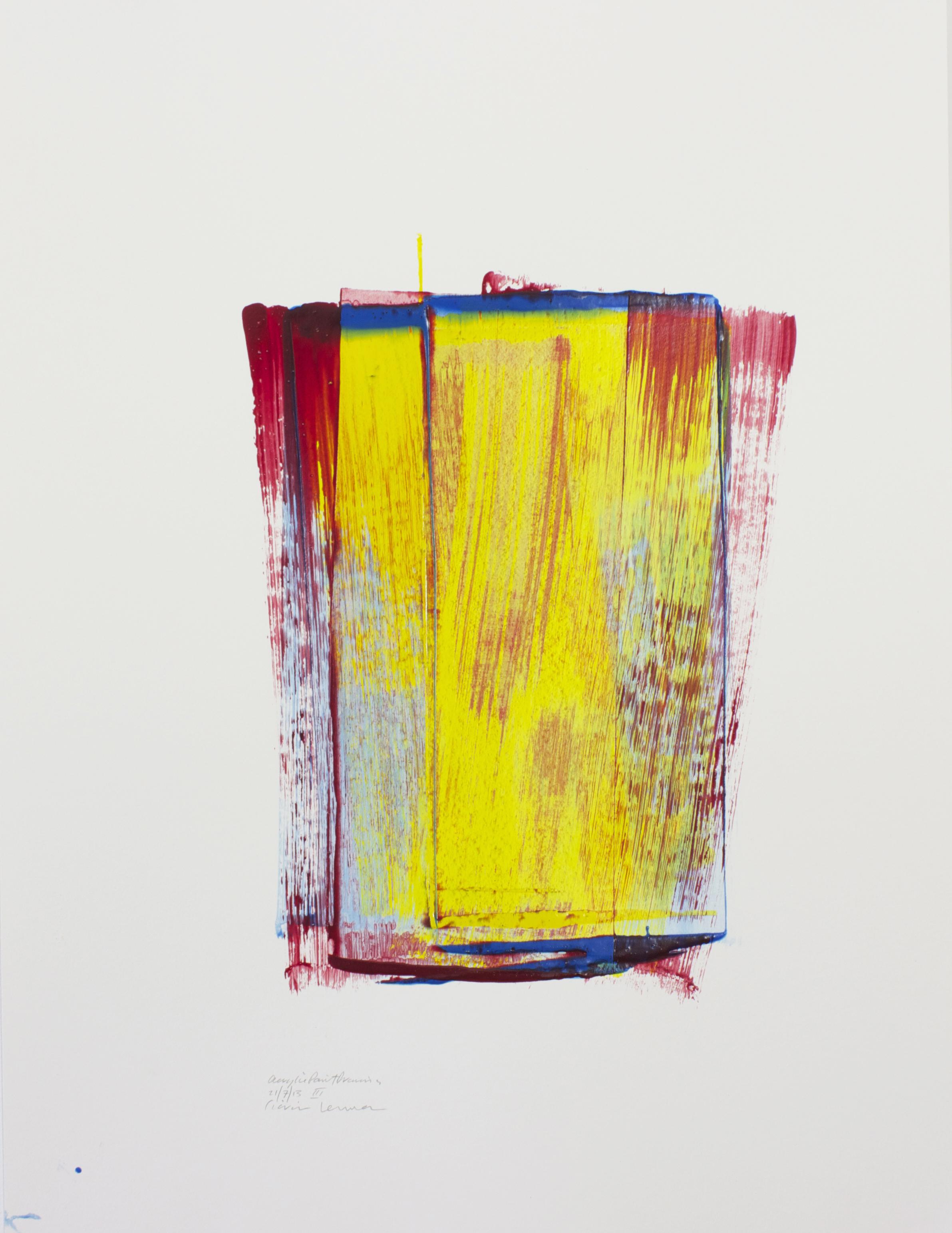 YRB III    Acrylic Paint Drawing, 79x59cm