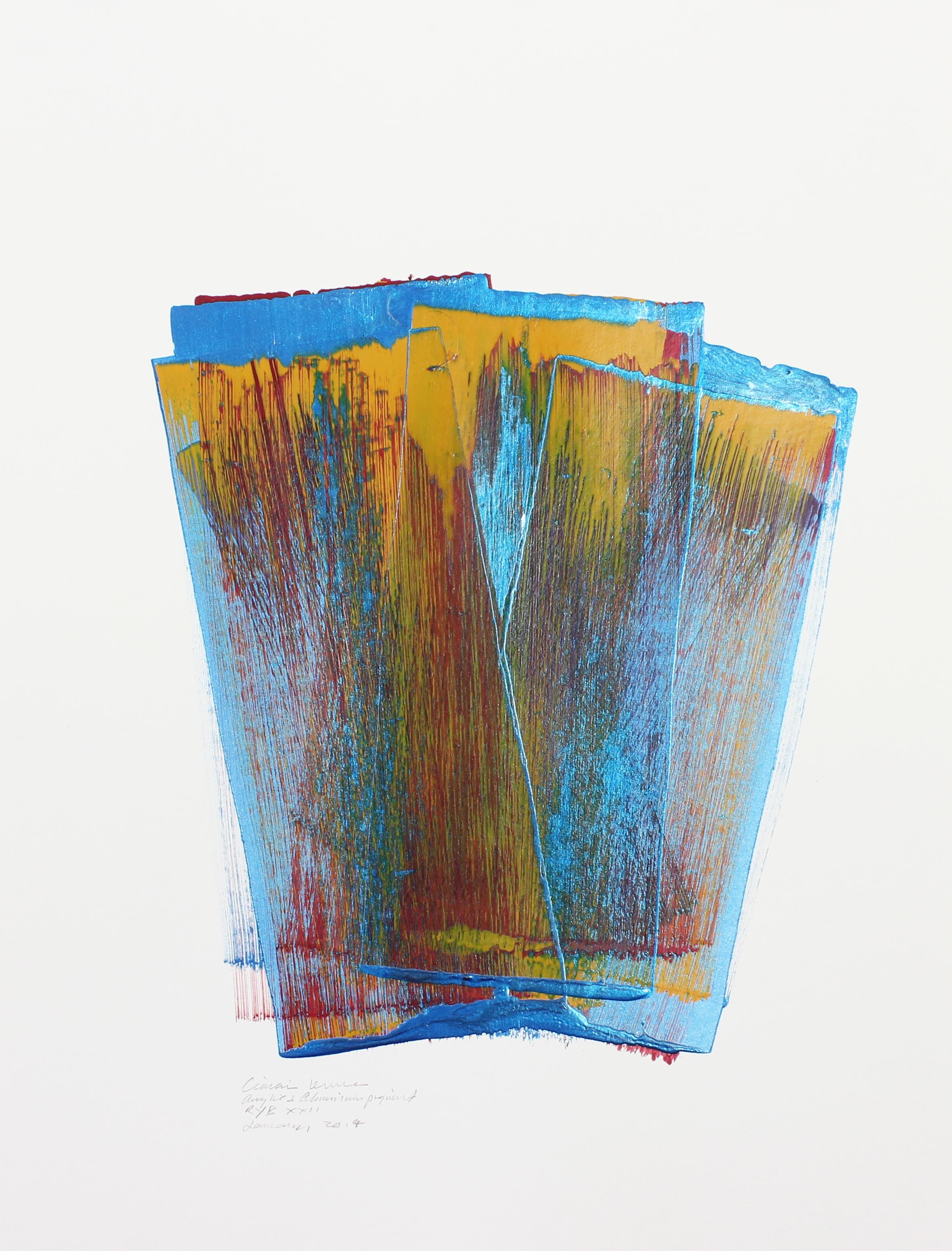 RYB XX II    Acrylic Paint Drawing, 79x59cm
