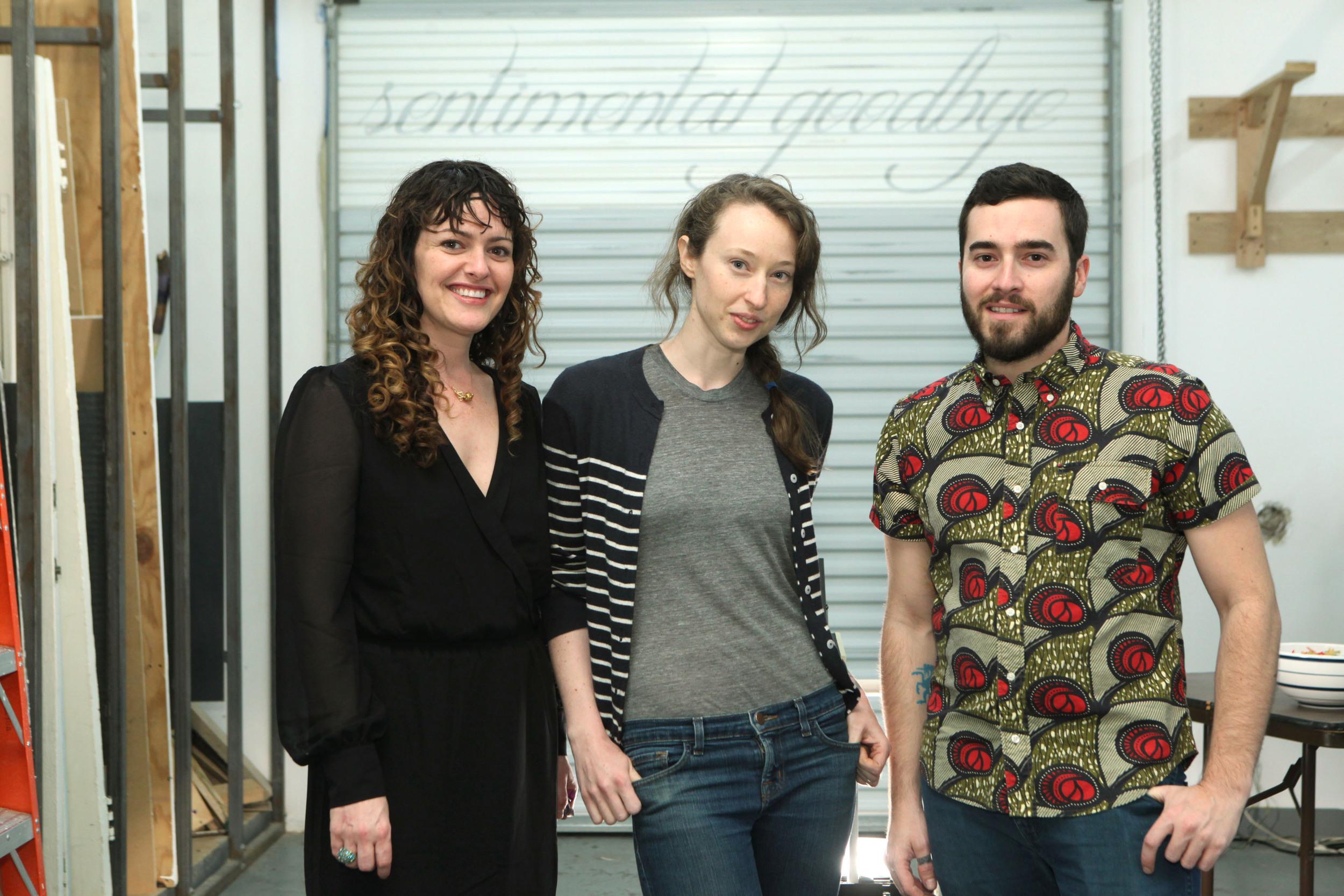 Jessica Amos, Kelly Donahey, and John Roelofs