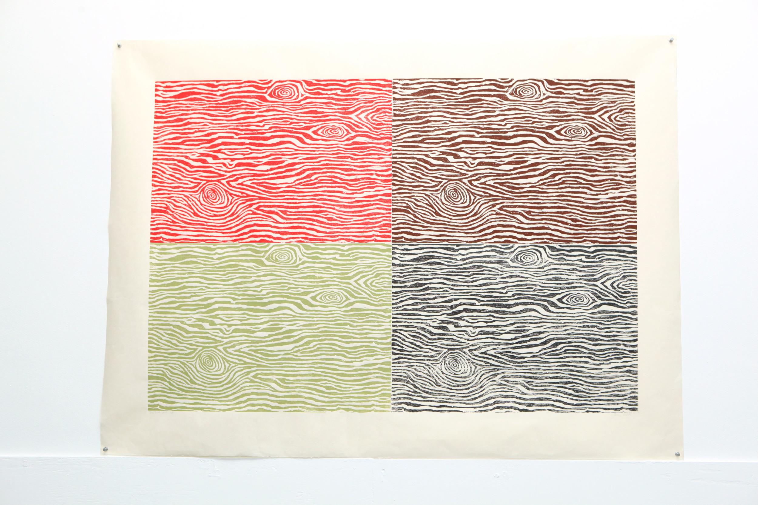 "John Roelofs ""This Isn't Wood"" : woodblock print on Okawara paper"