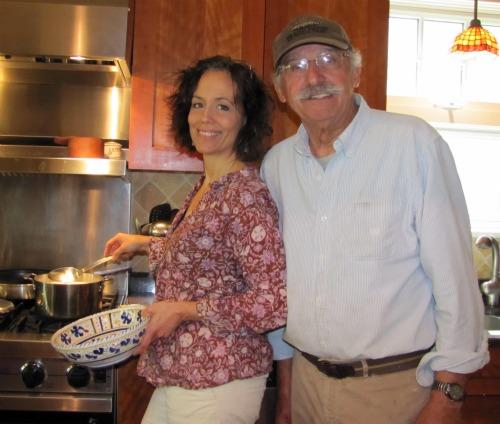 Laura Schenone and Lou Palma
