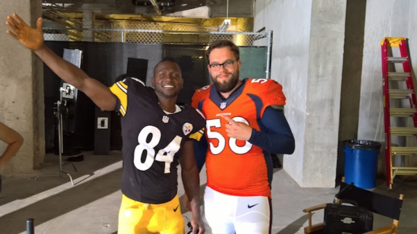 I got to be Von Miller's body double. That's not relevant to anything, I just like to brag.