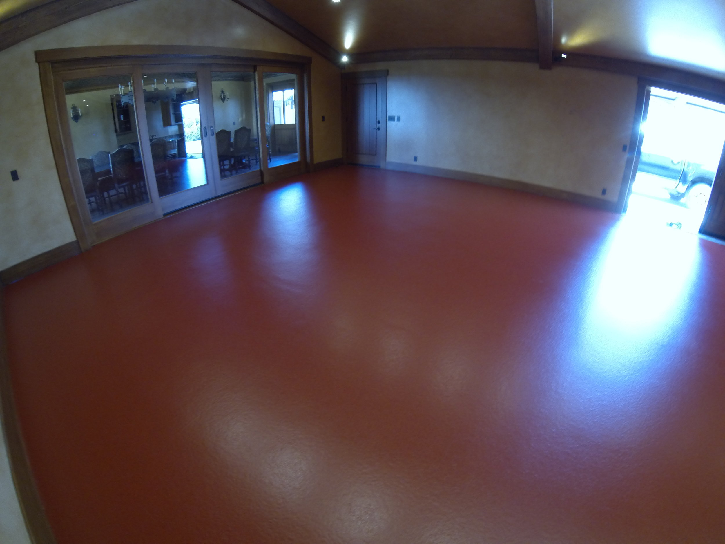 A room with our epoxy flooring in Santa Barbara, CA