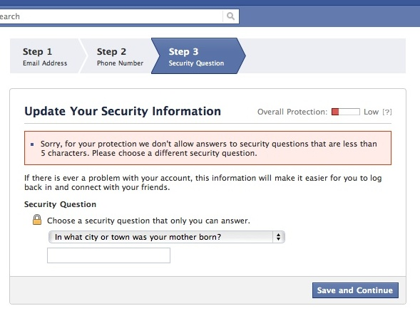 facebook security issue