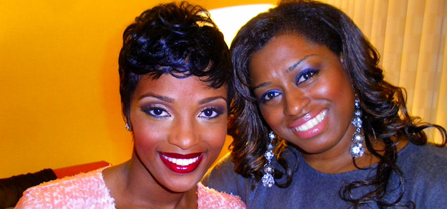 Chenese with Ariane Davis (VH1 Love & Hip Hop Atlanta) after she did her makeup.