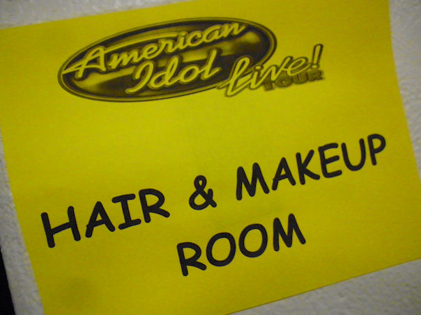 Where the glam happened! American Idol Tour Cincinnati 2012 backstage.