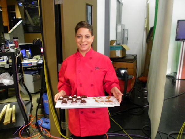 Taren Kinebrew of  Sweet Petite Desserts  ready for her FOX19 segment