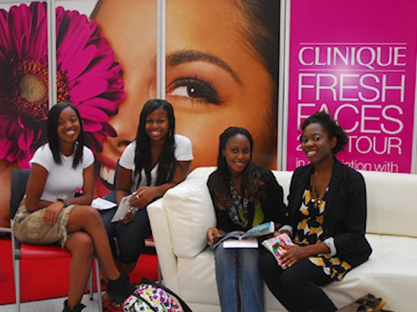 Clinique Fresh Faces Tour  for Teen Magazine at UC.