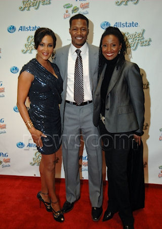 Working with B. Smith (on the right) for her special appearance and red carpet moment at Gospel Superfest was amazing.