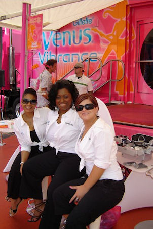 Working for Covergirl & Gilette in the Venus Vibrance Booth at Taste of Cincinnati.