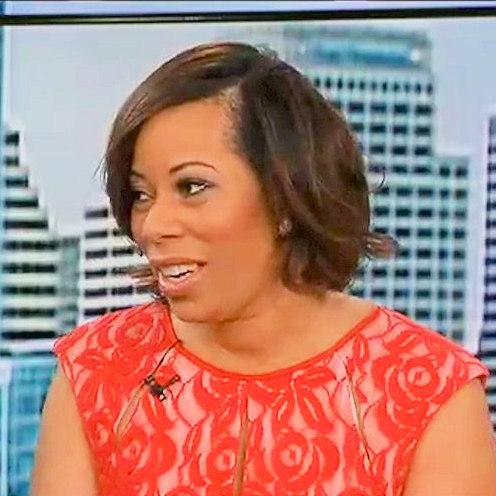 Sonia Jackson Myles, CEO of The Sister Accord live on tv.