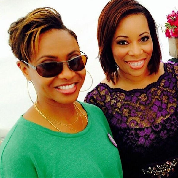 MC Lyte with Sonia Jackson Myles on The Sister Accord Day.