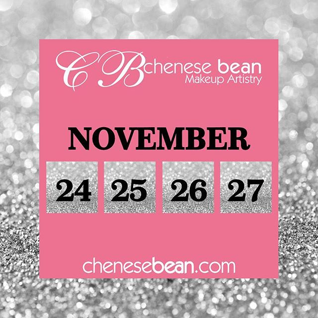 """The """"Pink Friday"""" countdown! Don't miss it... 10-30% off selected items. Including makeup appointments, makeup classes, gift cards and bridal. Shop www.chenesebean.com 🎀 #pinkfriday #makeupartist #mua #ohiomua #cincymua #makeupclass #makeupappointment #bridalmakeup #holidaysale #onceayear #giftcards #giftgiving #weddingmakeup #cincywedding #cincinnatiwedding #cincinnatimakeupartist #daytonmakeupartist #blackfriday #smallbusinesssaturday #cybermonday #glam #bling #readingbridaldistrict #readingbridal #markyourcalendar #savethedate #savethedates #yearlysale #glambychenesebean"""