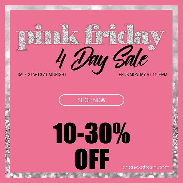 Sale begins at midnight! 🎀 #pinkfriday #blackfriday #smallbusinesssaturday #cybermonday