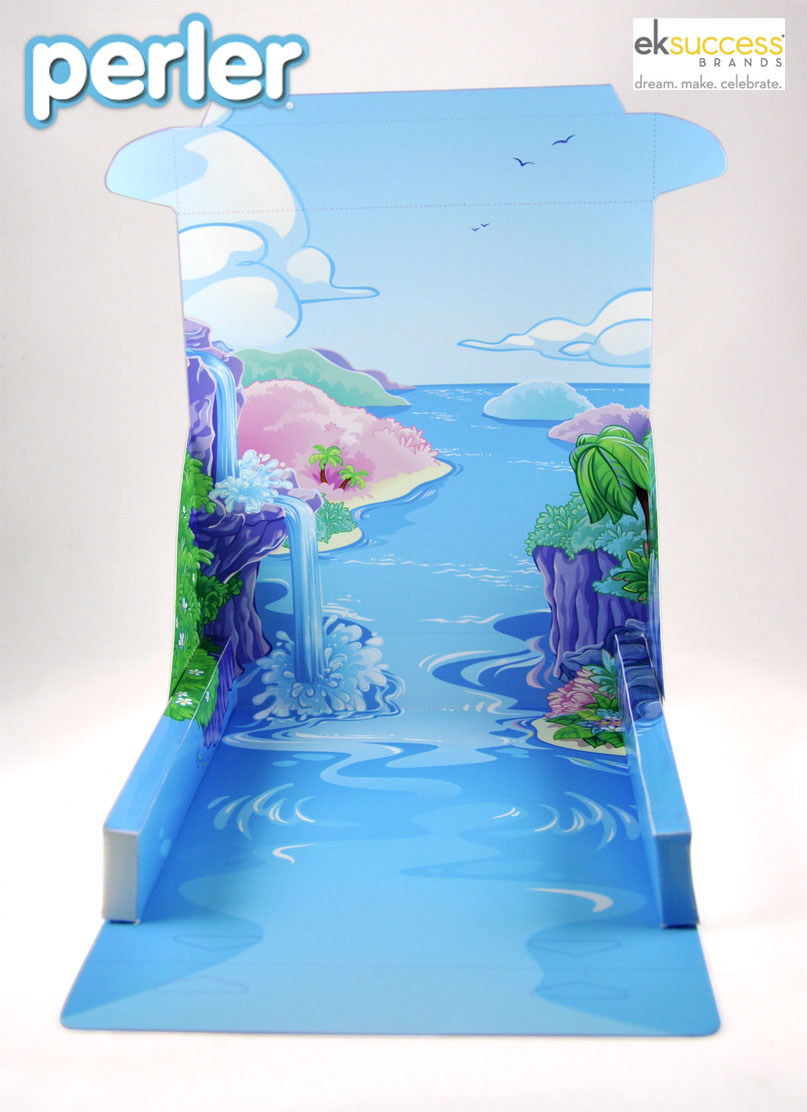 MERMAID LAGOON PLAY SET BACKGROUND    1/5 scale   mock  -up of   the play set  , set up.