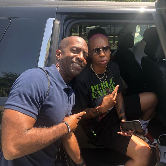 You never know who you'll run into at Lil Dizzy's. Appreciate you @lenawaithe. #essencefestival