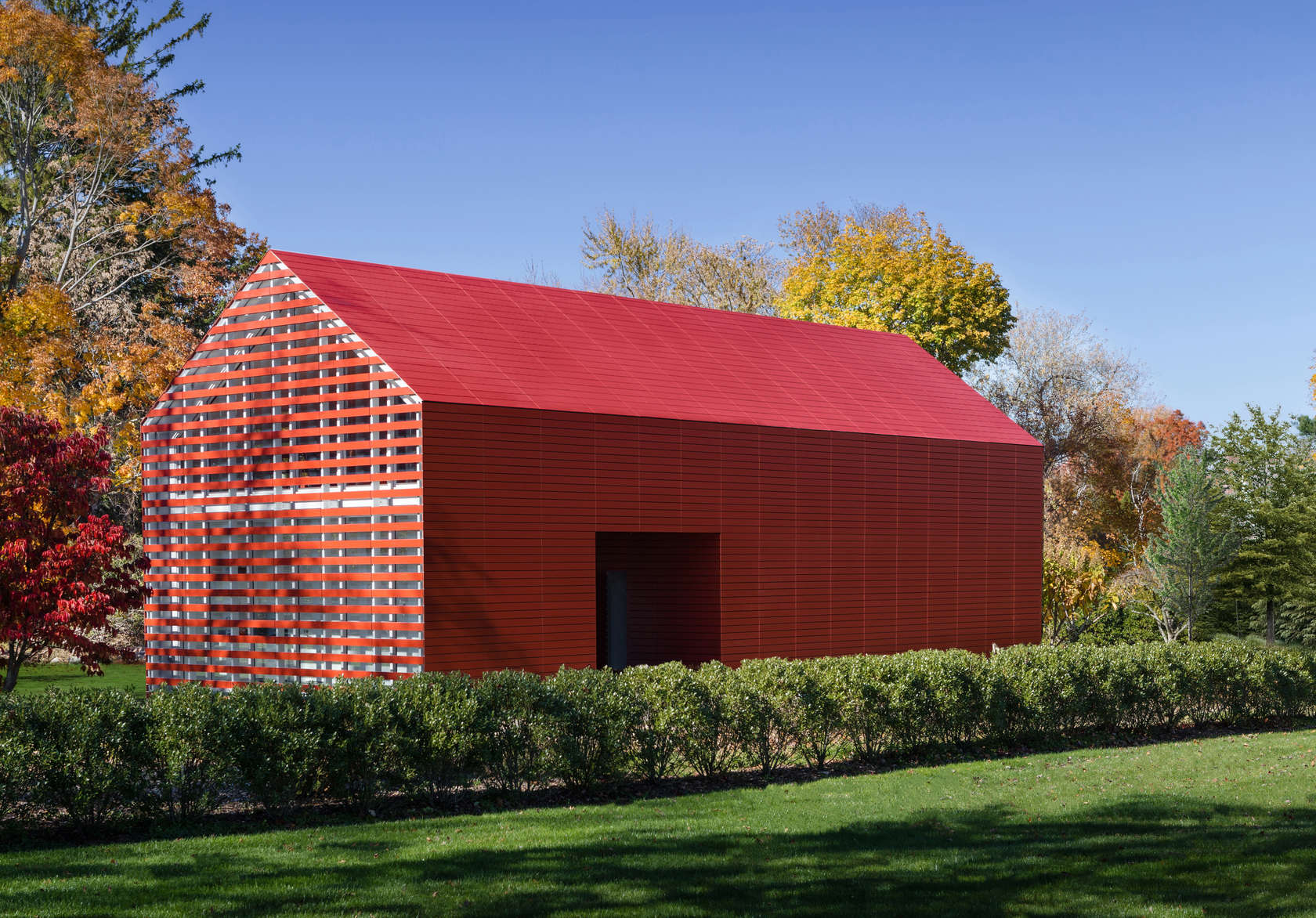 View of Red Barn designed by Roger Ferris + Partners