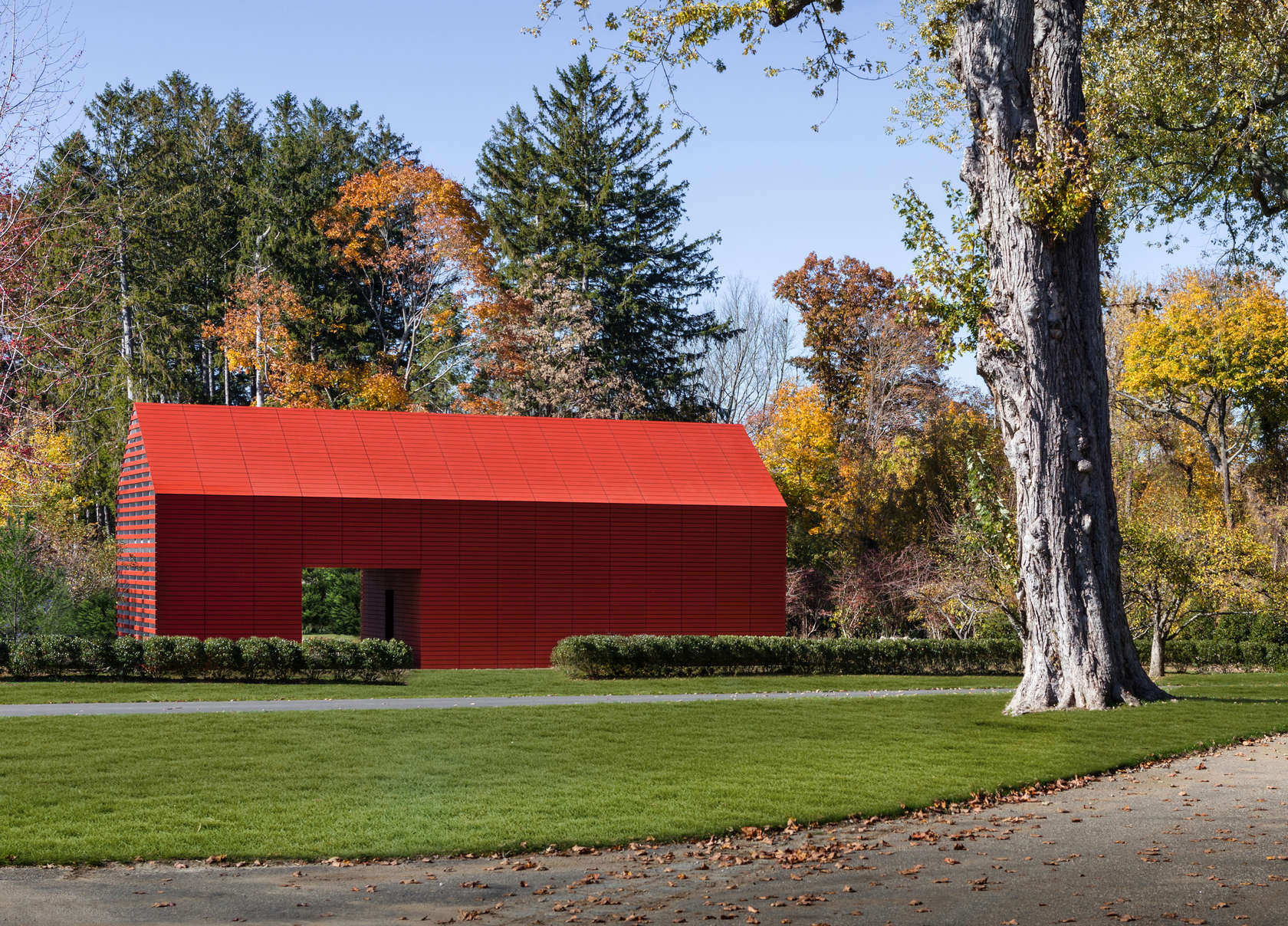 Overall view of Red Barn designed by Roger Ferris + Partners
