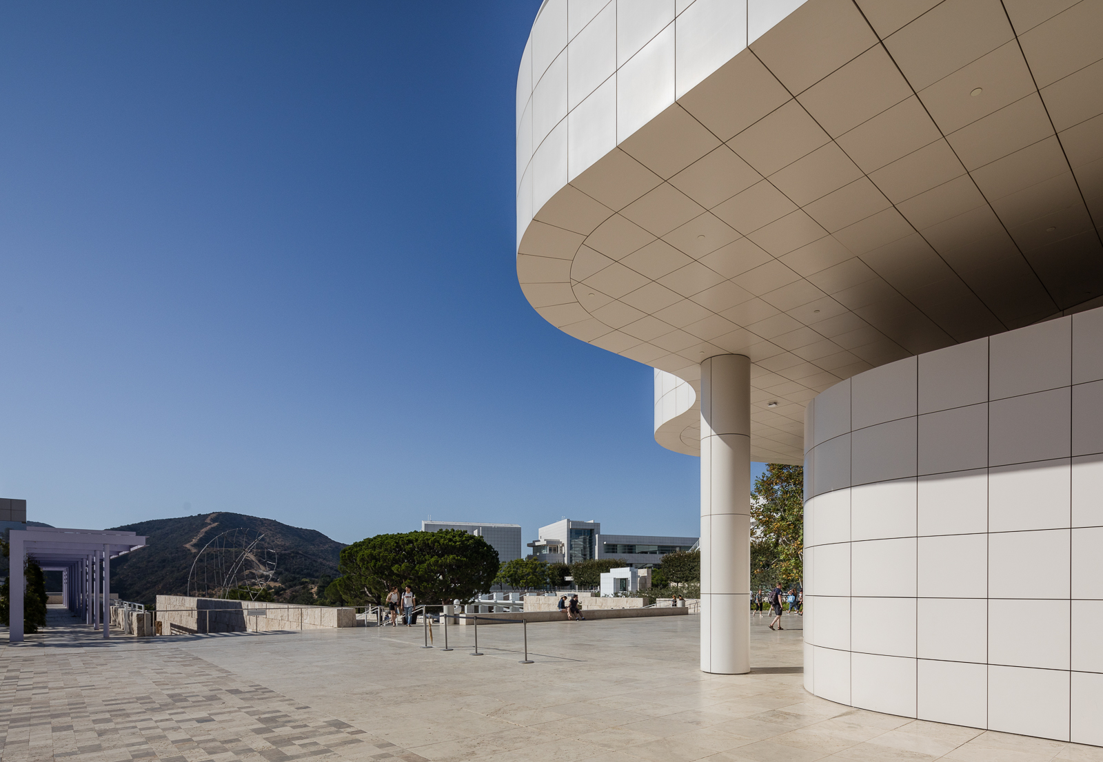 Architectural detail of the Getty Center