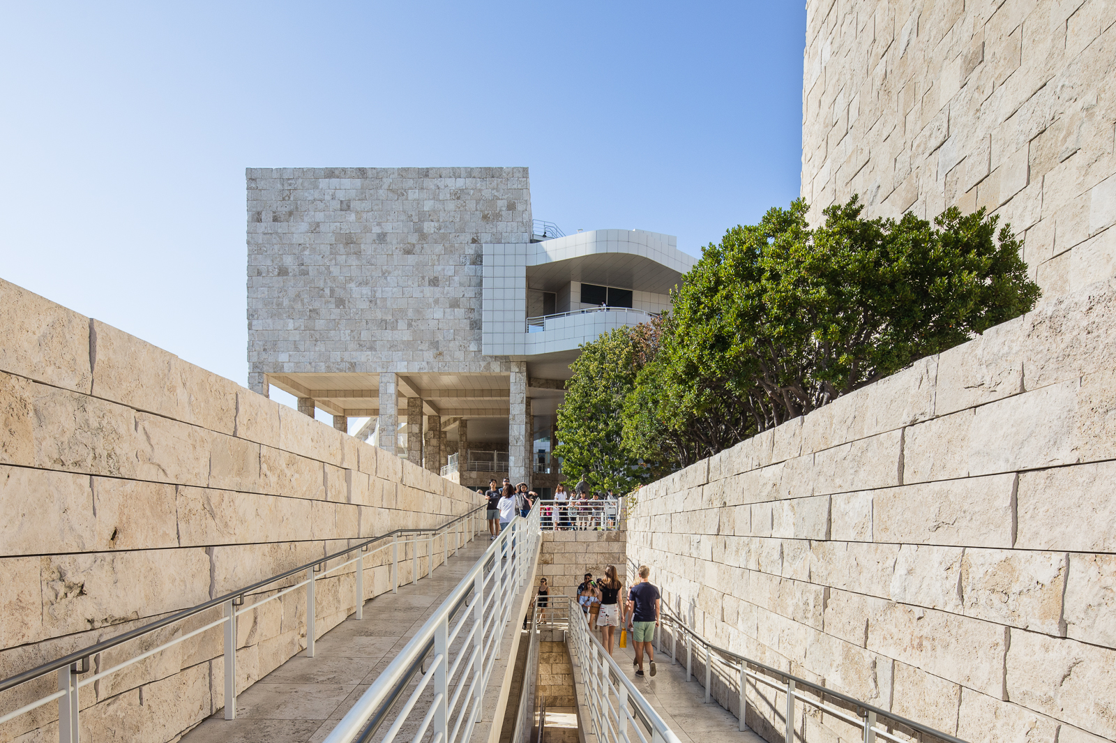 Stairs at the Getty Center designed by Richard Meier