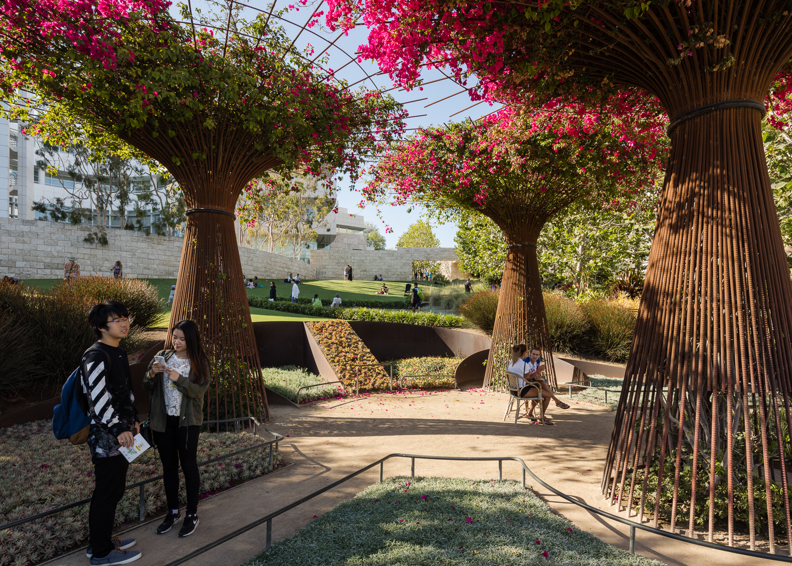 The Central Garden, at the heart of the Getty Center.