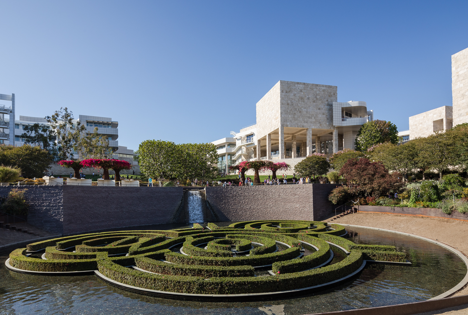 The center garden created by artist Robert Irwin