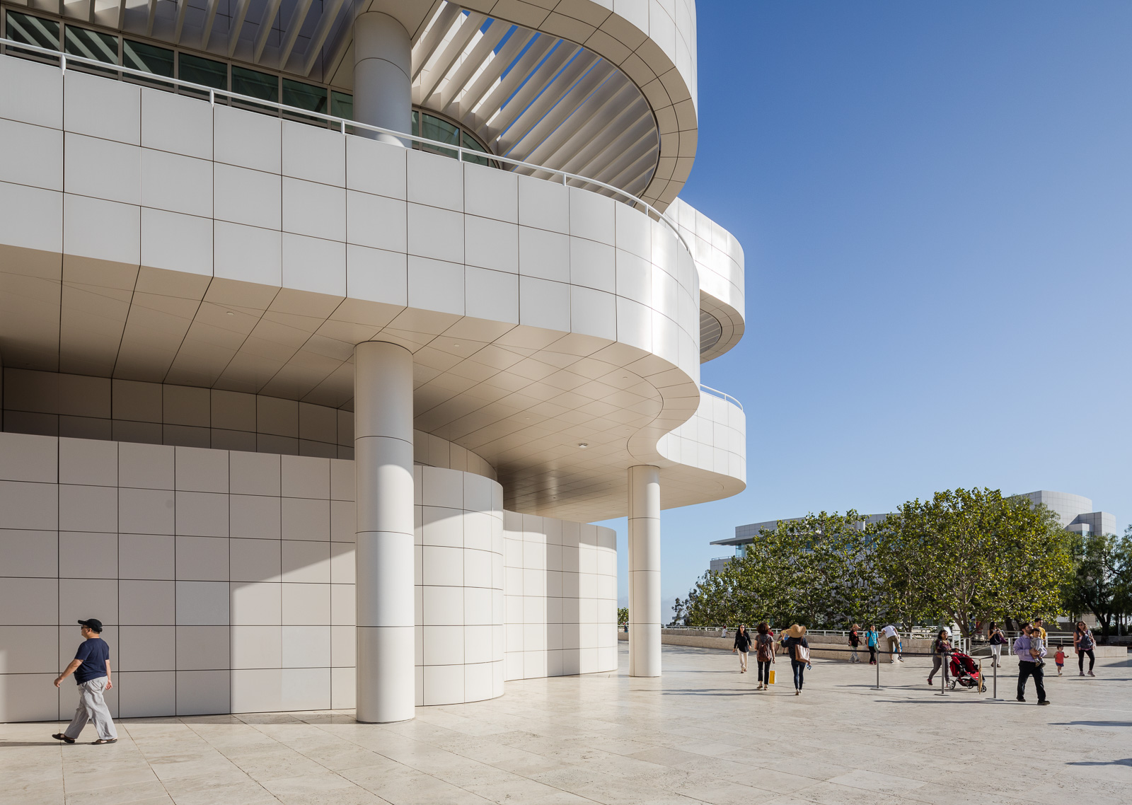 Exteriors of the Getty Center museum in Los Angeles