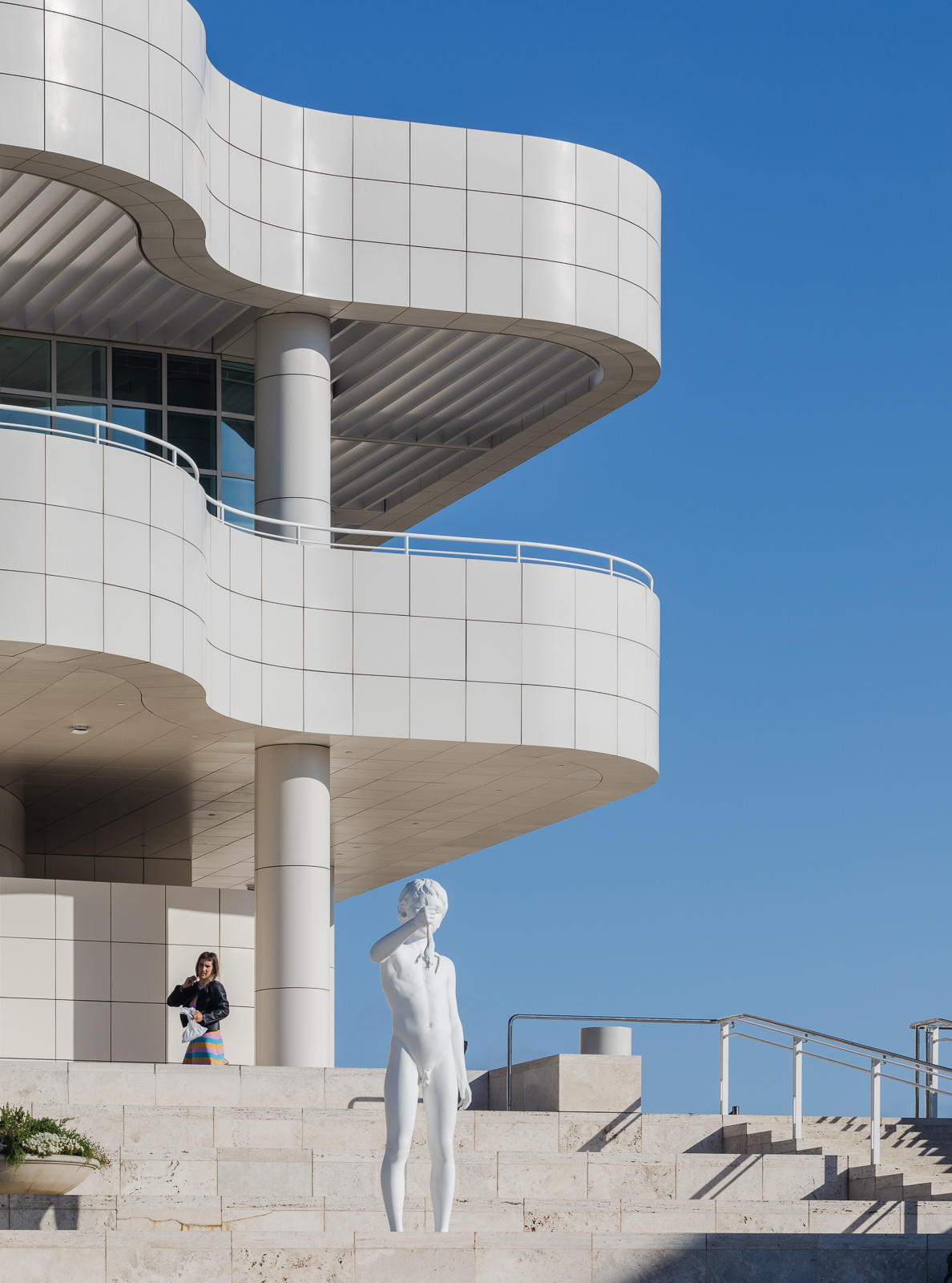 Details of the entrance hall at the Getty Center