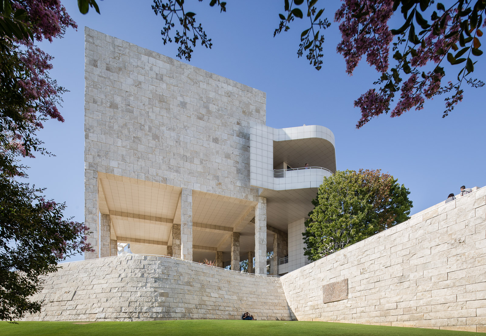Beautiful building of the Getty Museum