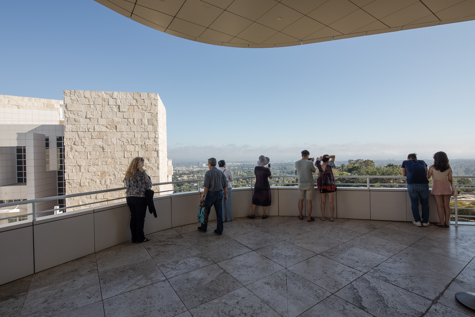 People visiting the Getty Museum