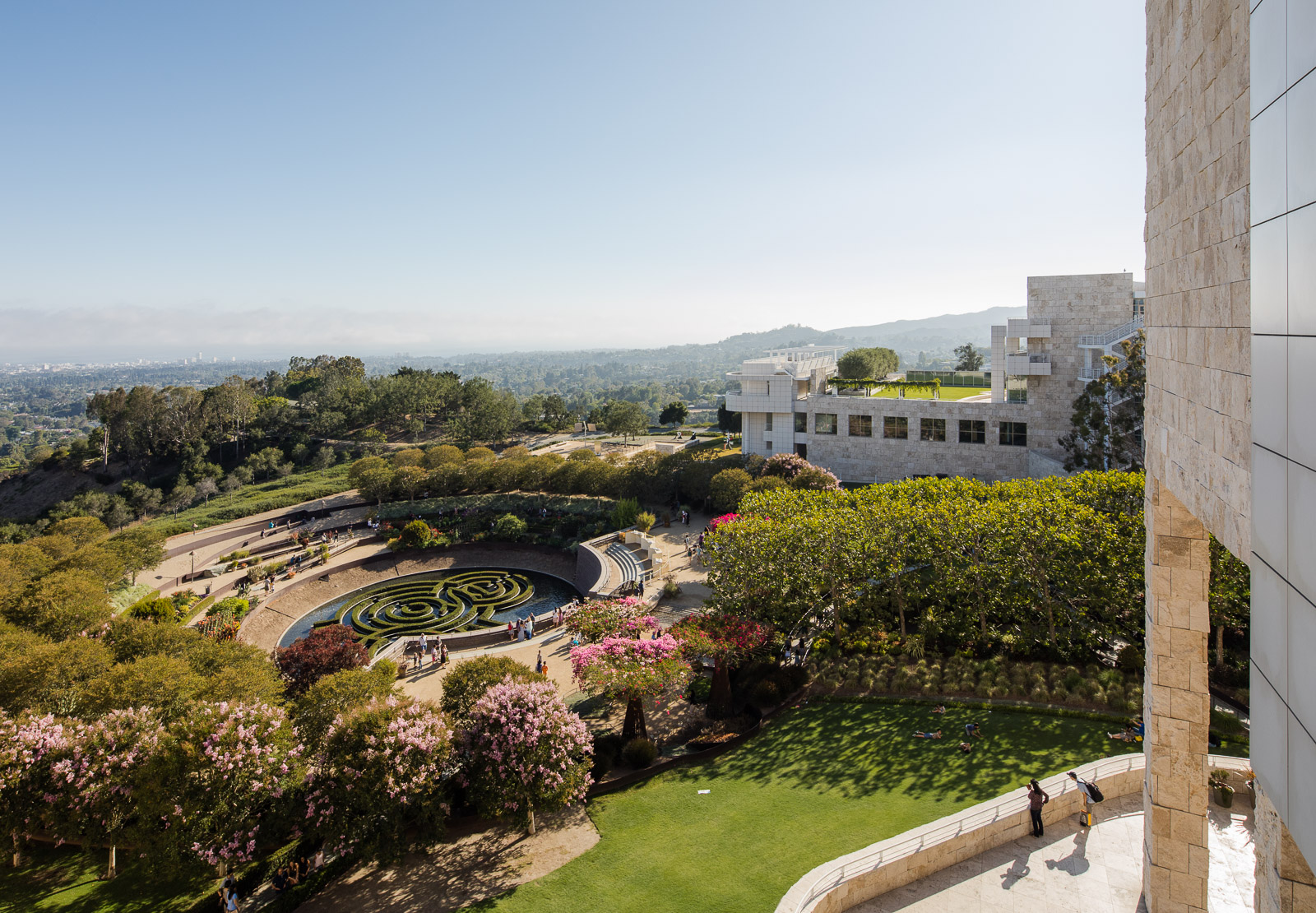 Beautiful landscape garden at the Getty Center