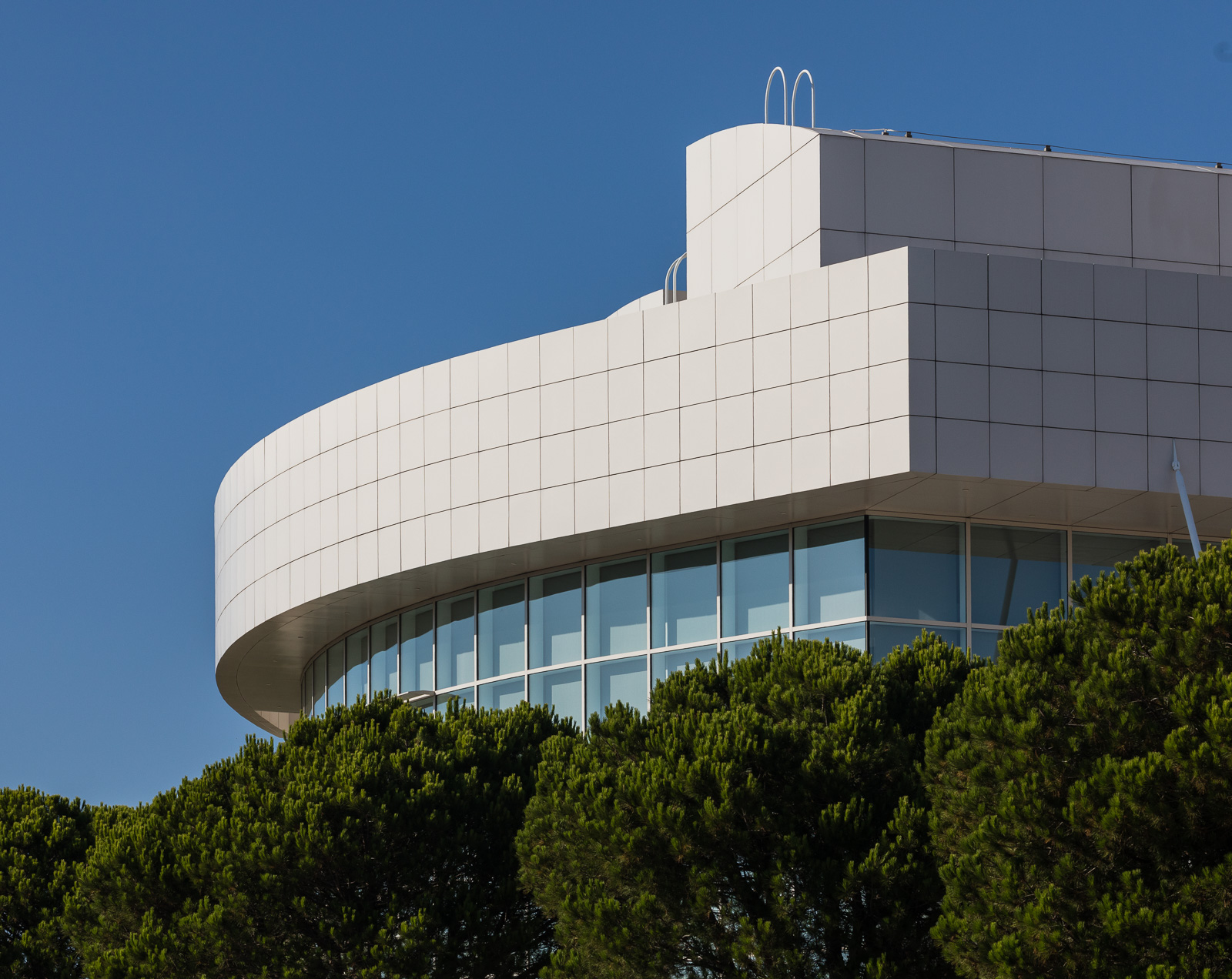 Amazing architecture of the Getty Museum in Los Angeles, California