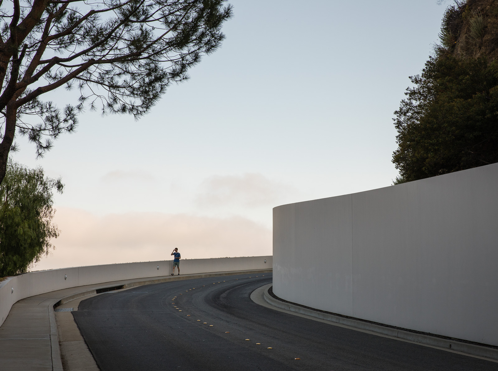 The road to the Getty Museum designed by Richard Meier
