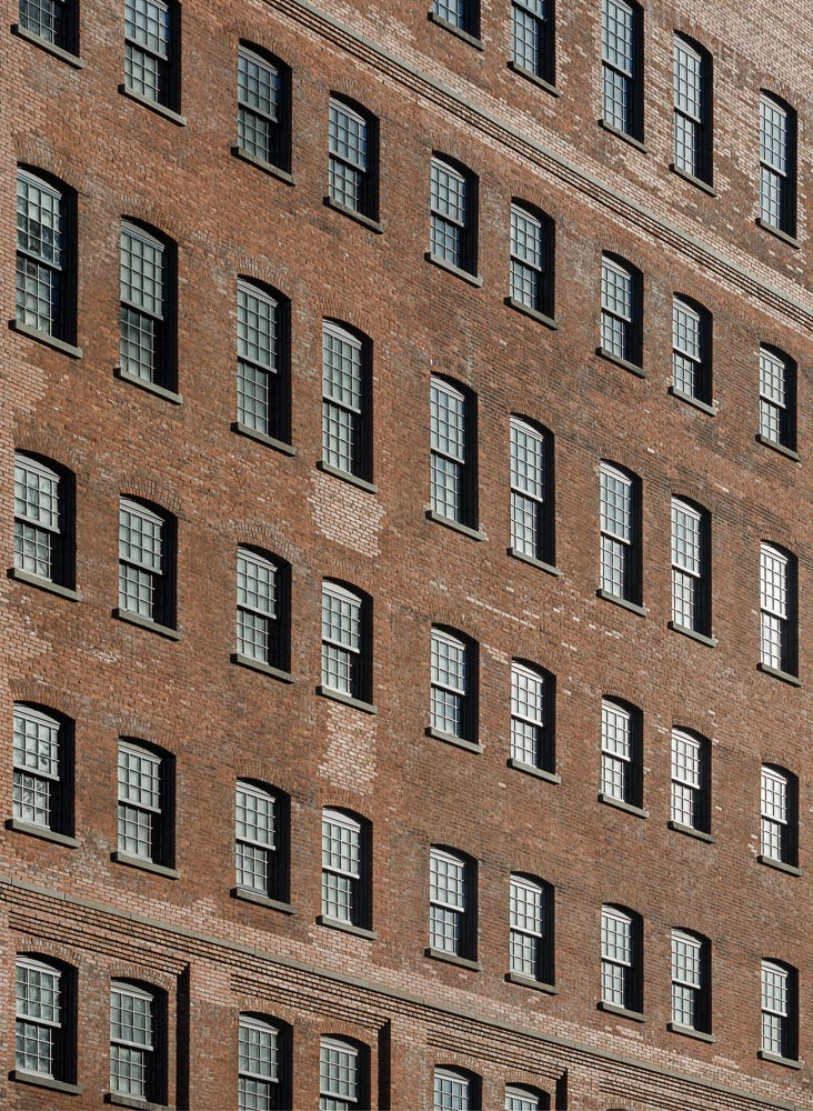 Restored facade details of the 10 Jay St designed by ODA Architecture