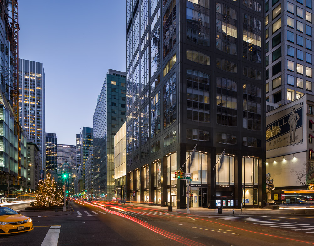 Dusk view of 450 Park Avenue owned by Oxford Properties Group
