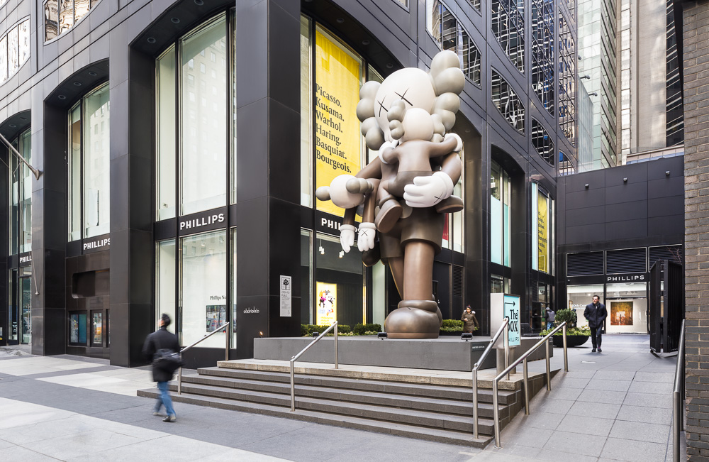 Art installation by KAWS at 450 Park Ave owned by Oxford Properties Group