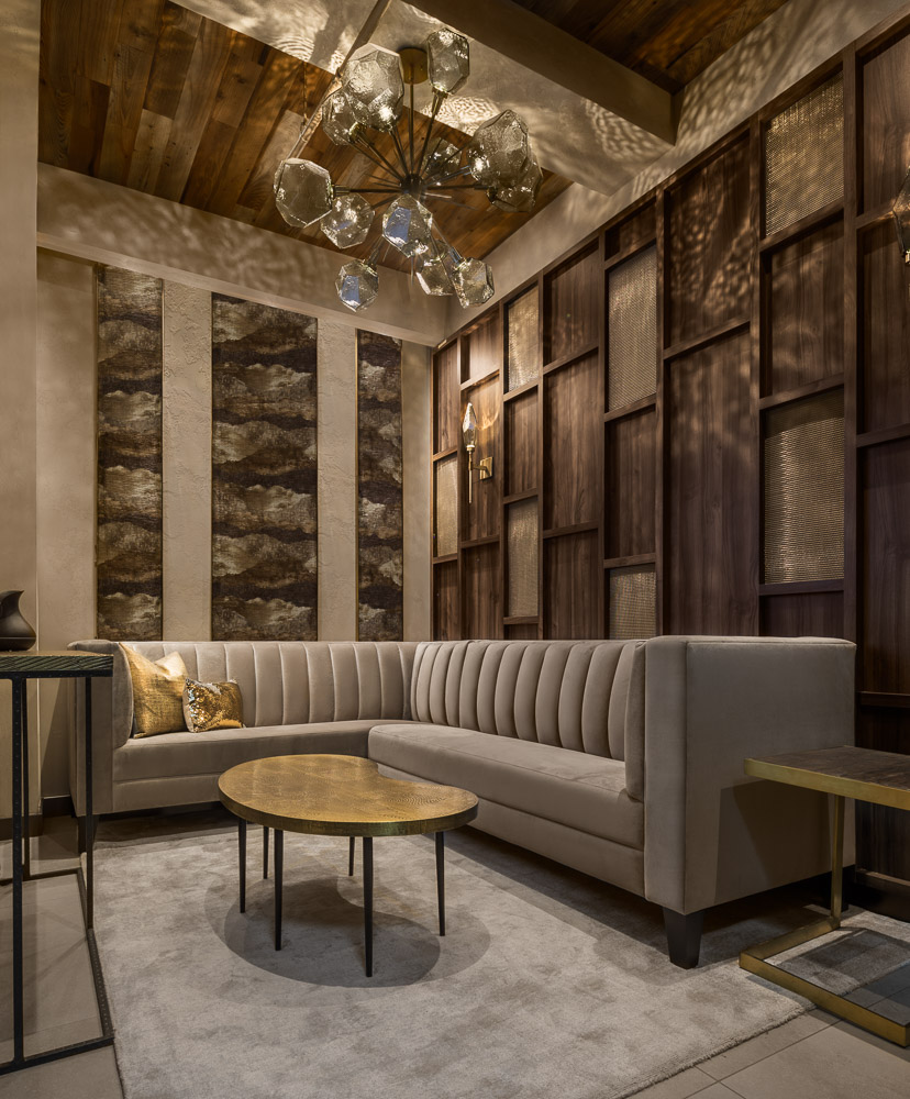 The Lobby at Avi & Co showroom designed by Seed Design New York