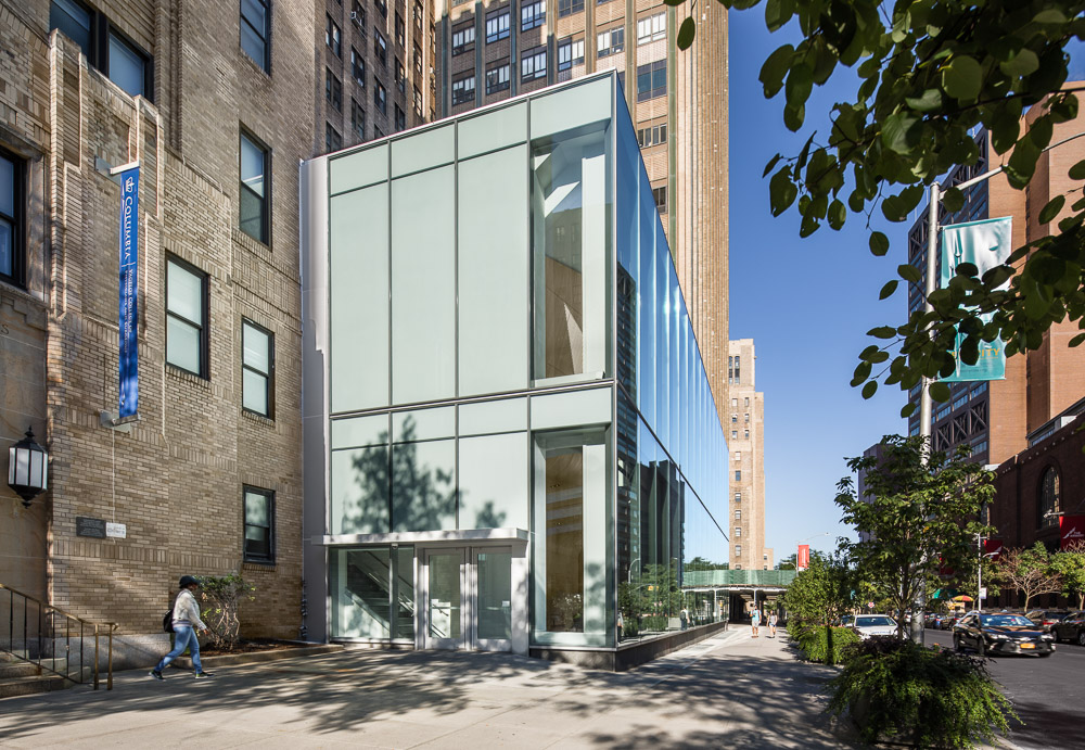 Facade details of the Alumni Auditorium at Columbia University Medical Center designed by MdeAS Architects