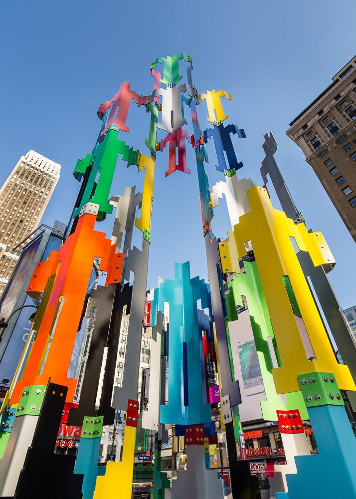 Jonathan Borofsky Sculpture looking up