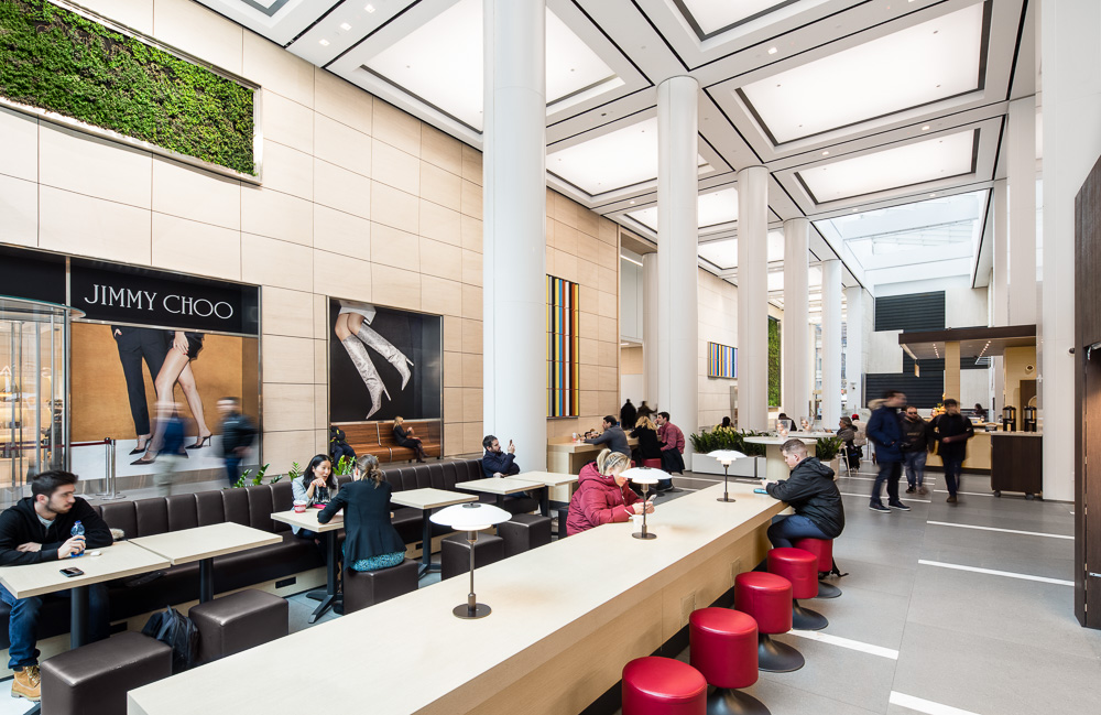 New Lobby cafe designed by MdeAS Architects at Olympic Tower