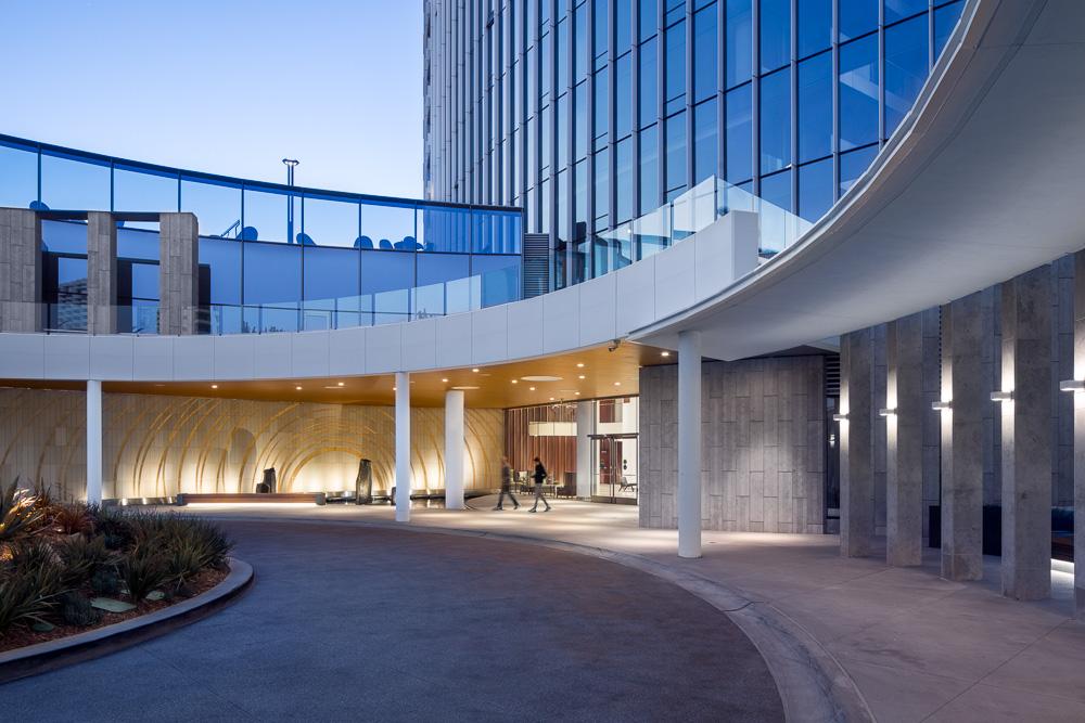 Lobby Entrance at the Pacific Gate designed by Kohn Pedersen Fox