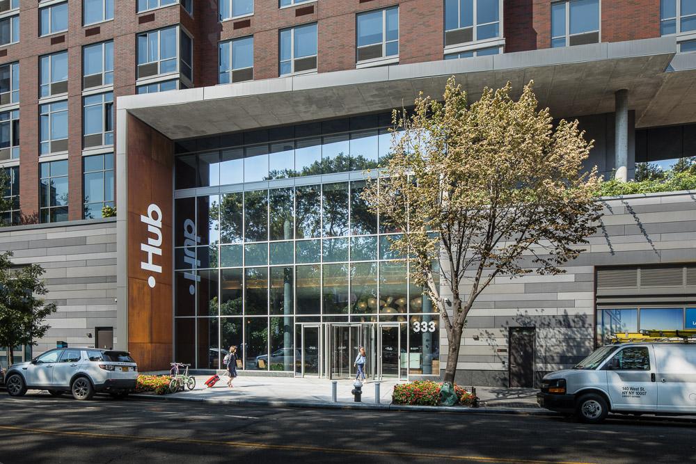The Hub Brooklyn entrance