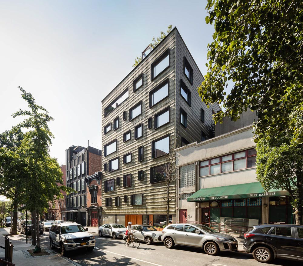 Facade Installed At Six-Story 210 Pacific St by NAVA