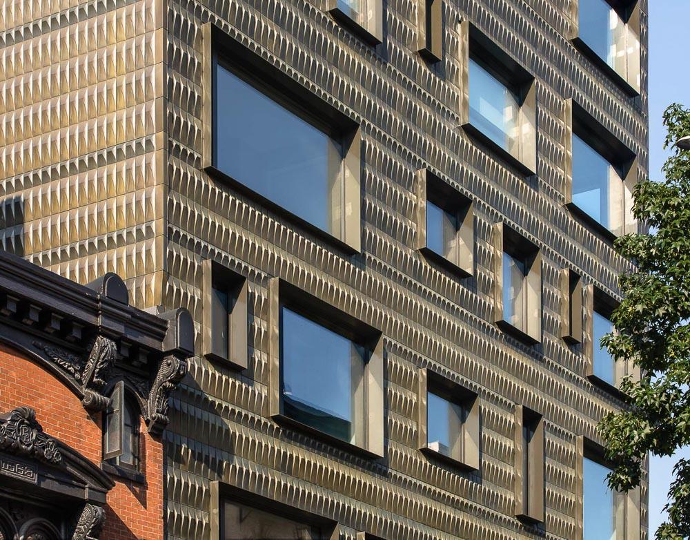 Modern facade of Residential Multi-Family Housing at Boerum Hill, Brooklyn, New York
