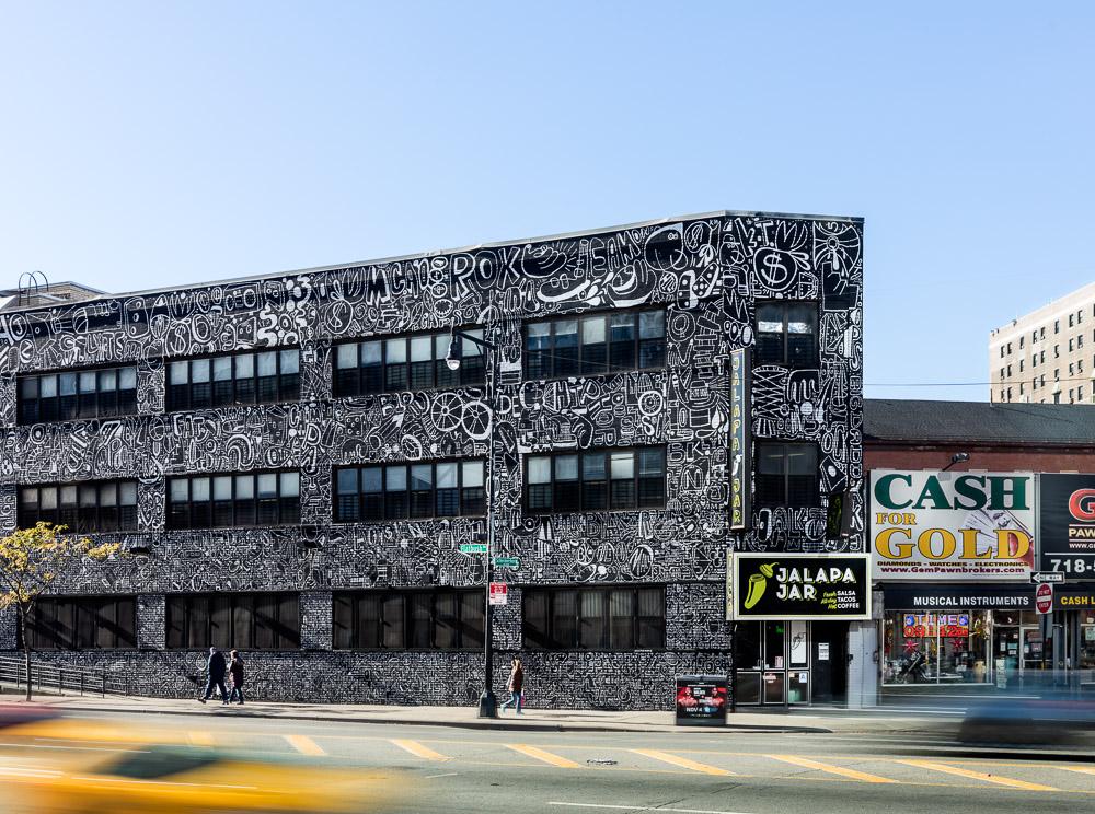 80 Flatbush mural by the artist Katie Merz in Brooklyn
