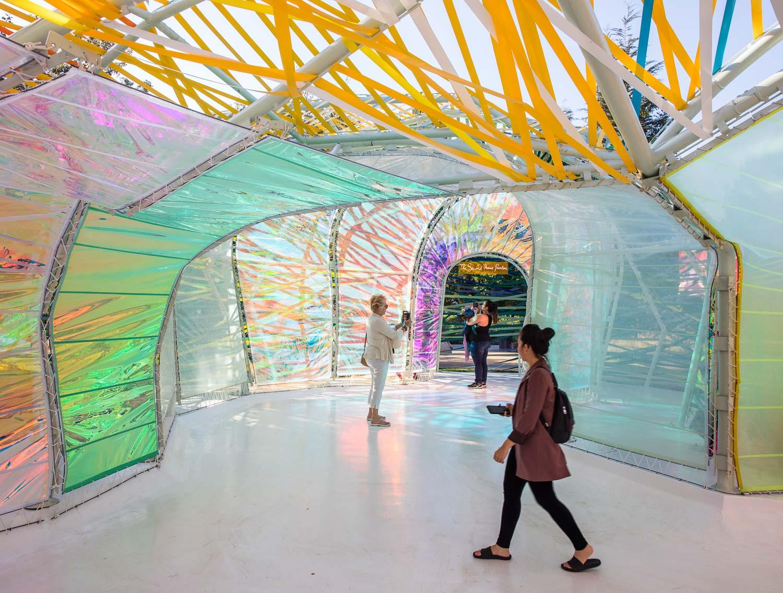 Interiors of the SelgasCano's Serpentine Pavilion