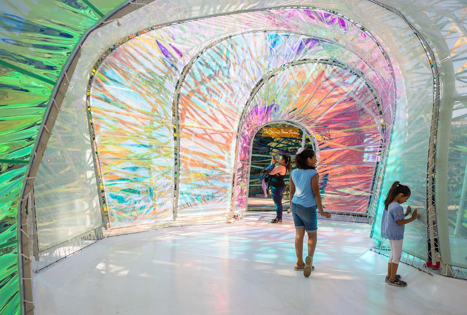 Interiors of the SelgasCano's Serpentine Pavilion in Los Angeles