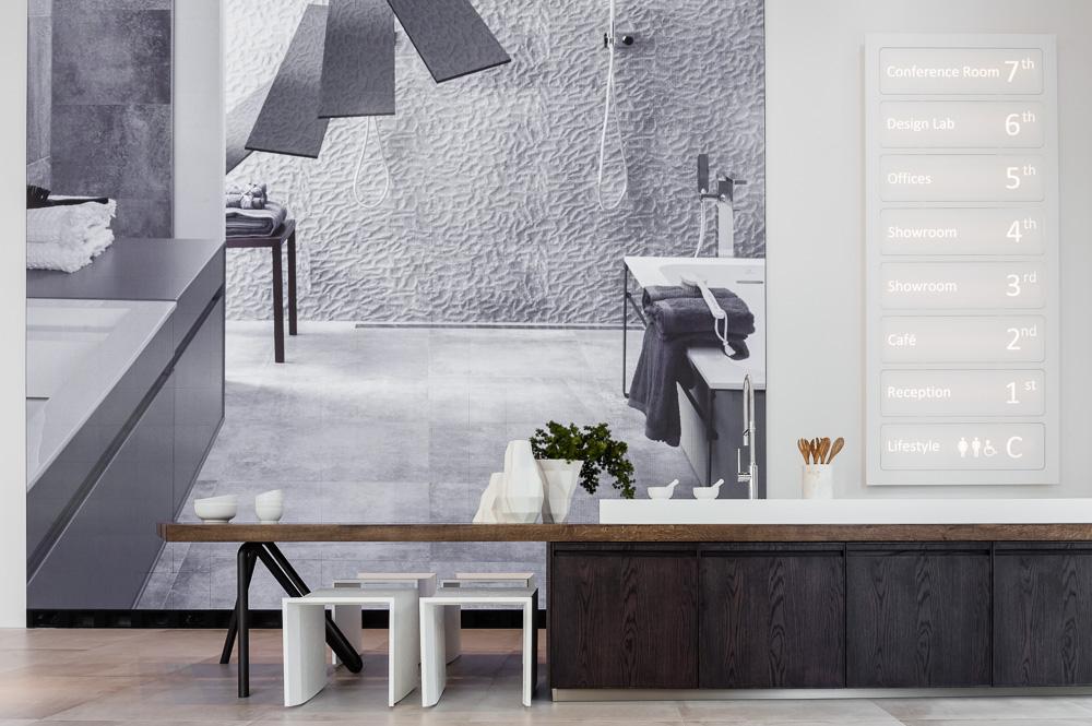 Interior design of Porcelanosa's Flagship Showroom New York