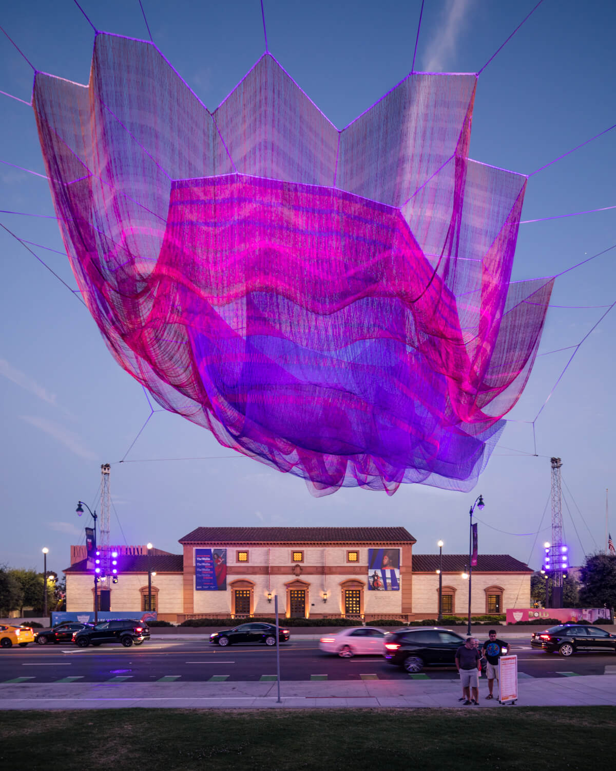 1.78 Beverly Hills, a sculpture in Janet Echelman's Earthtime Series