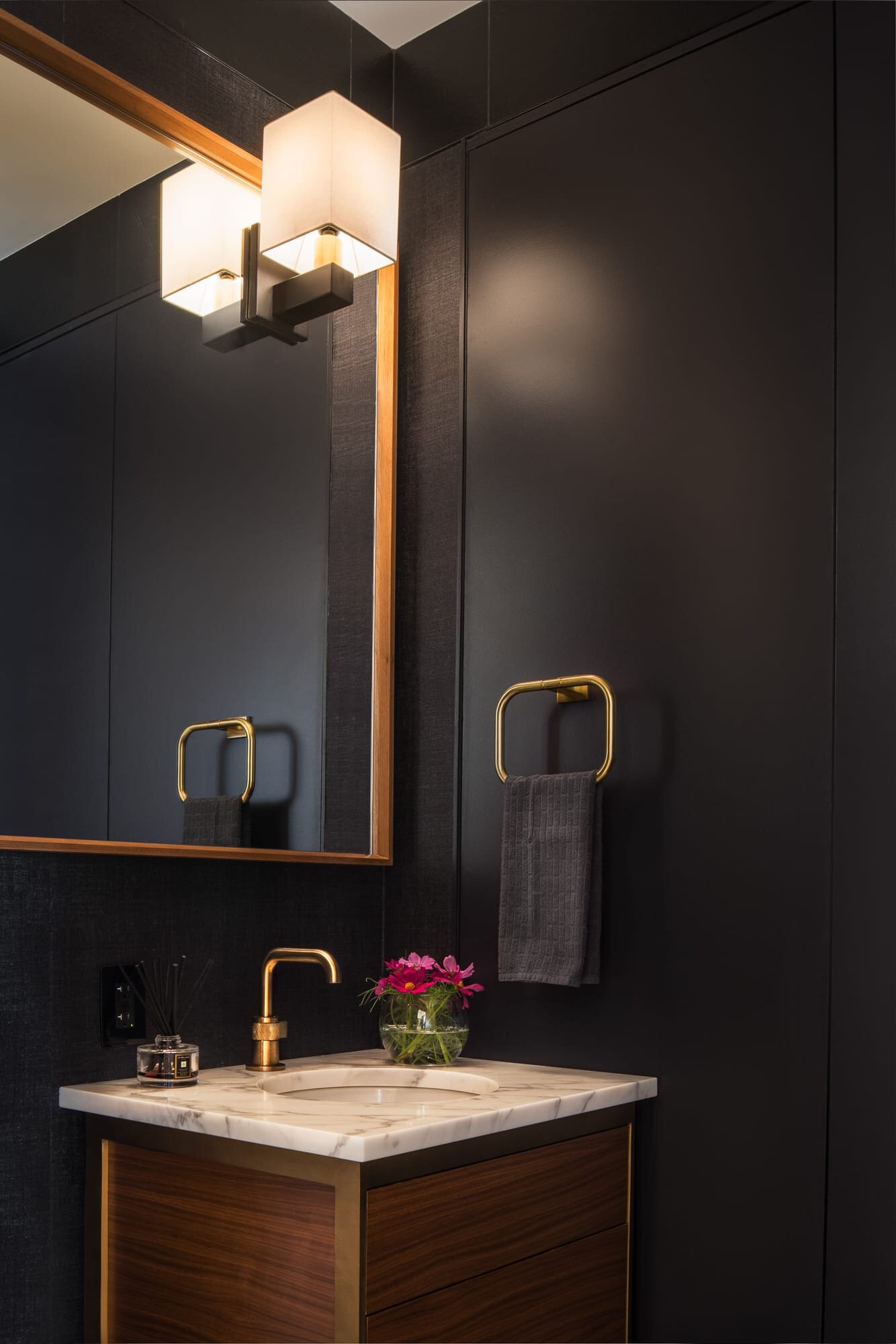 Bathroom details designed by Andrew Wilkinson Architect